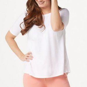 AnyBody Cozy Knit Short-Sleeve Swing Top 4987